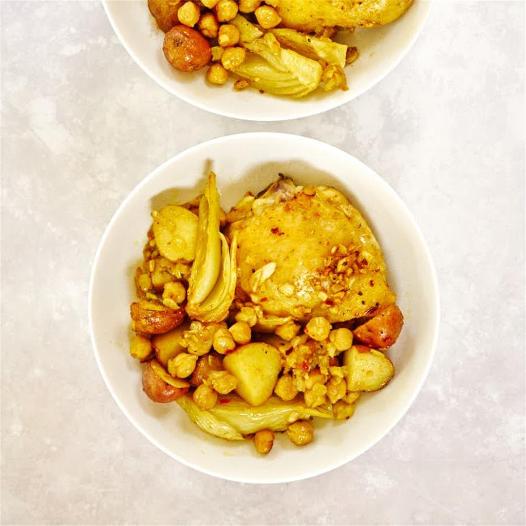 Chickpea & Fennel One-Pan Chicken