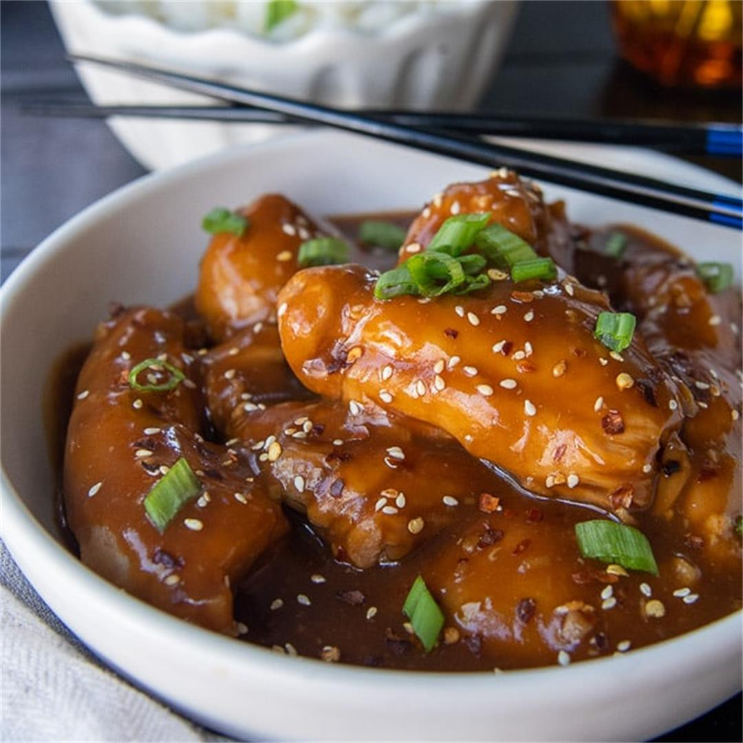 Sticky Honey Soy Chicken Thighs