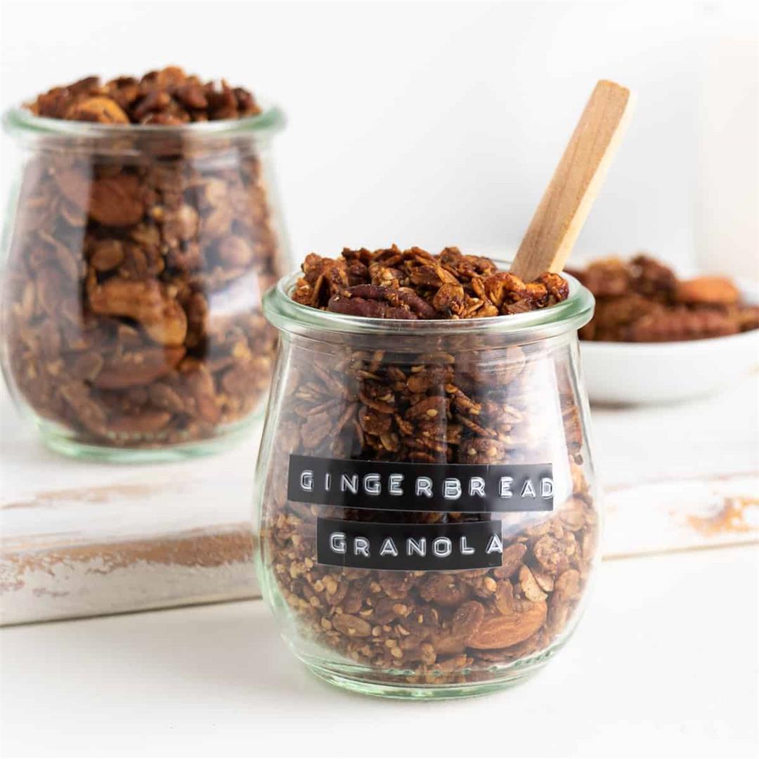 Gingerbread Granola (Vegan, Gluten-Free)