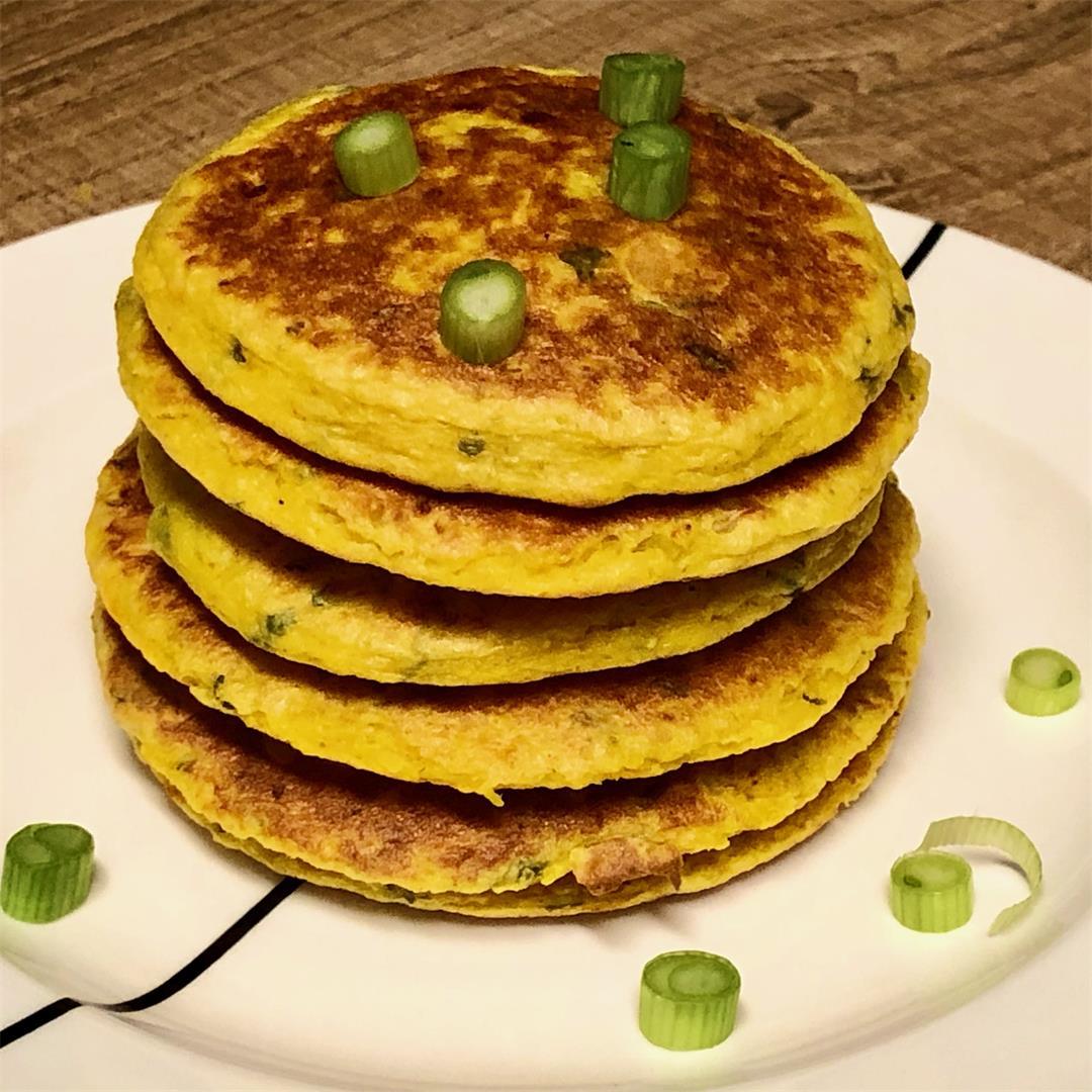 Healthy Indian inspired pumpkin pancakes