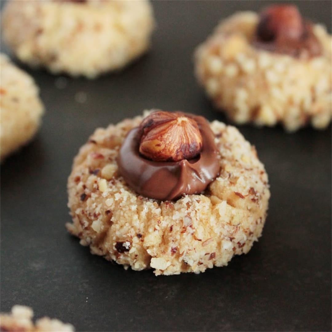 Cappuccino Nutella Thumbprint cookies