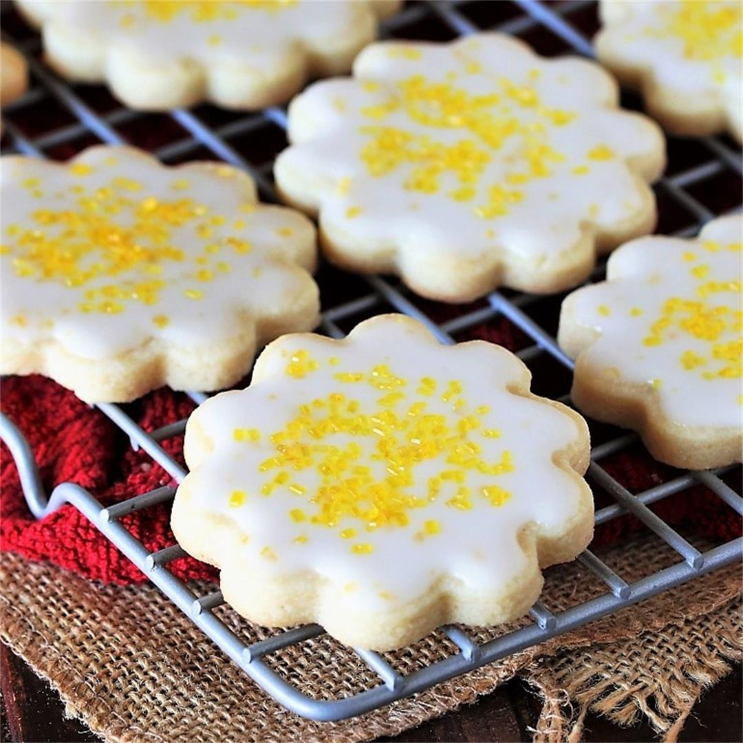 Lemon-Glazed Butter Cookies