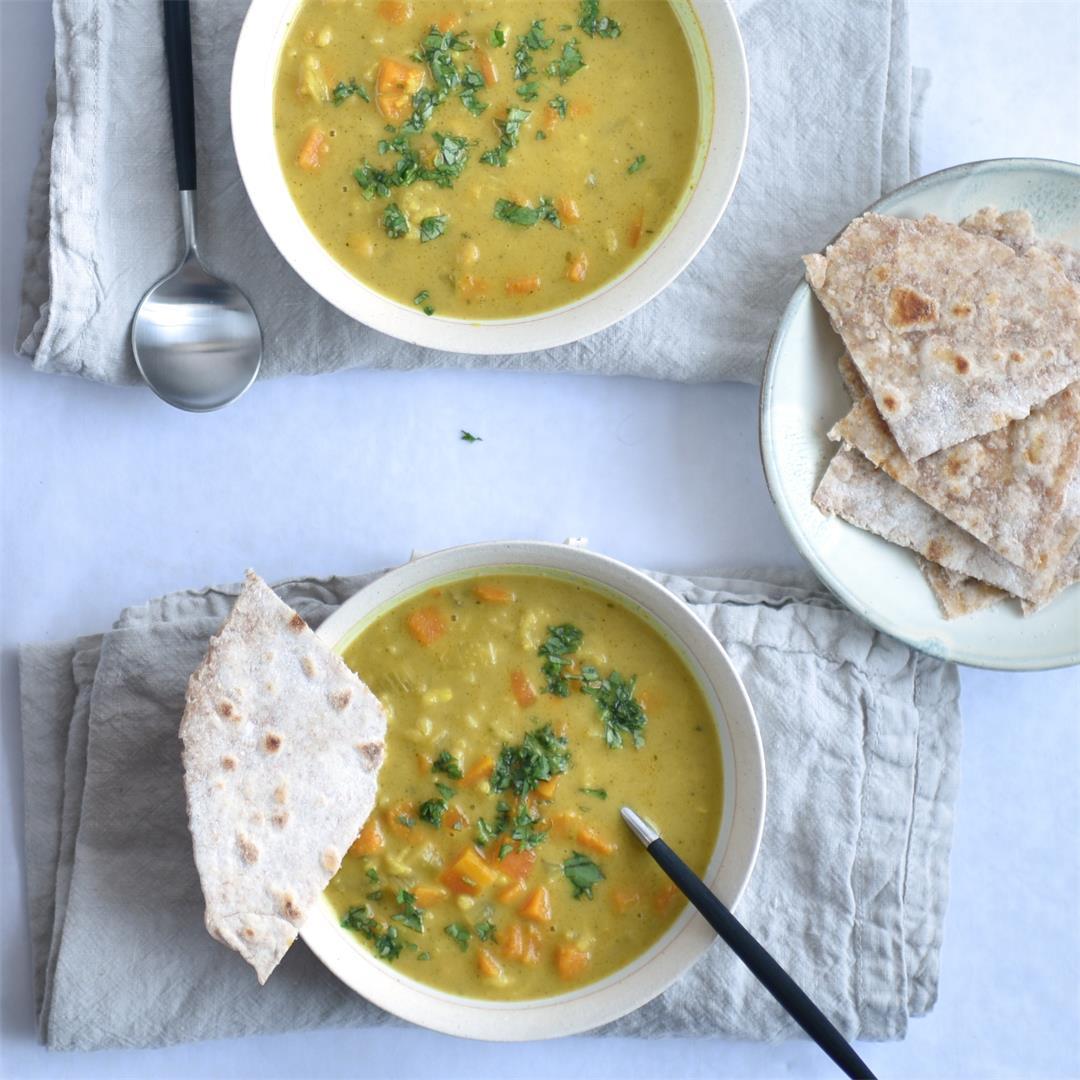 sweet potato mulligatawny soup
