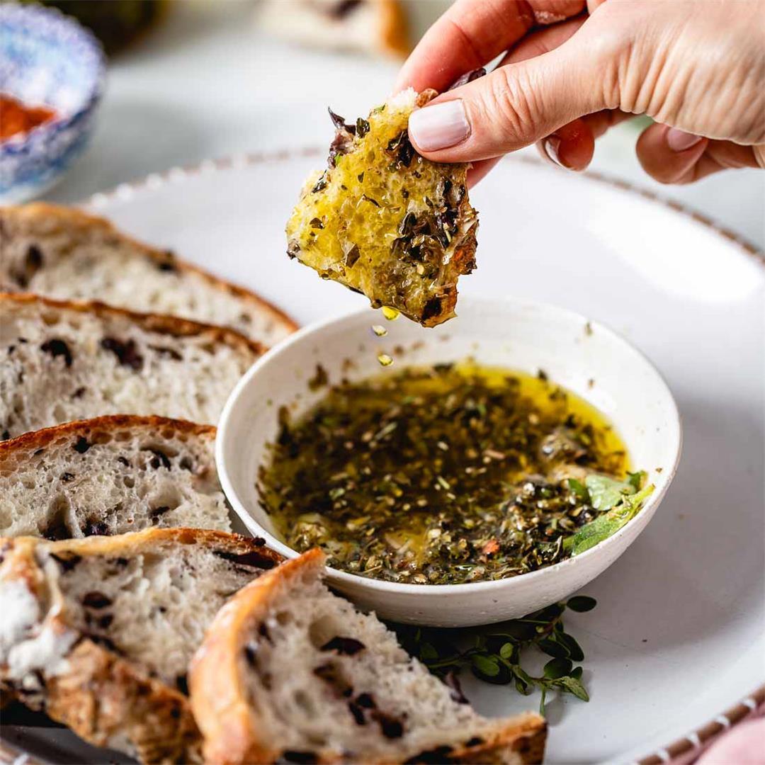 Restaurant Style Olive Oil Bread Dip Recipe (Video!)