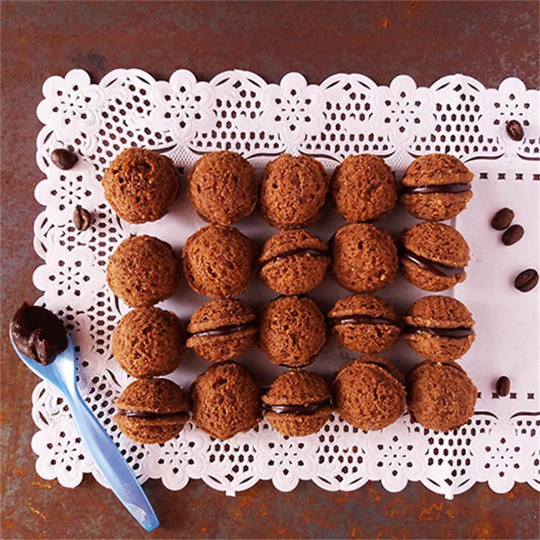 Espresso Hazelnut Sandwich Cookies Recipe