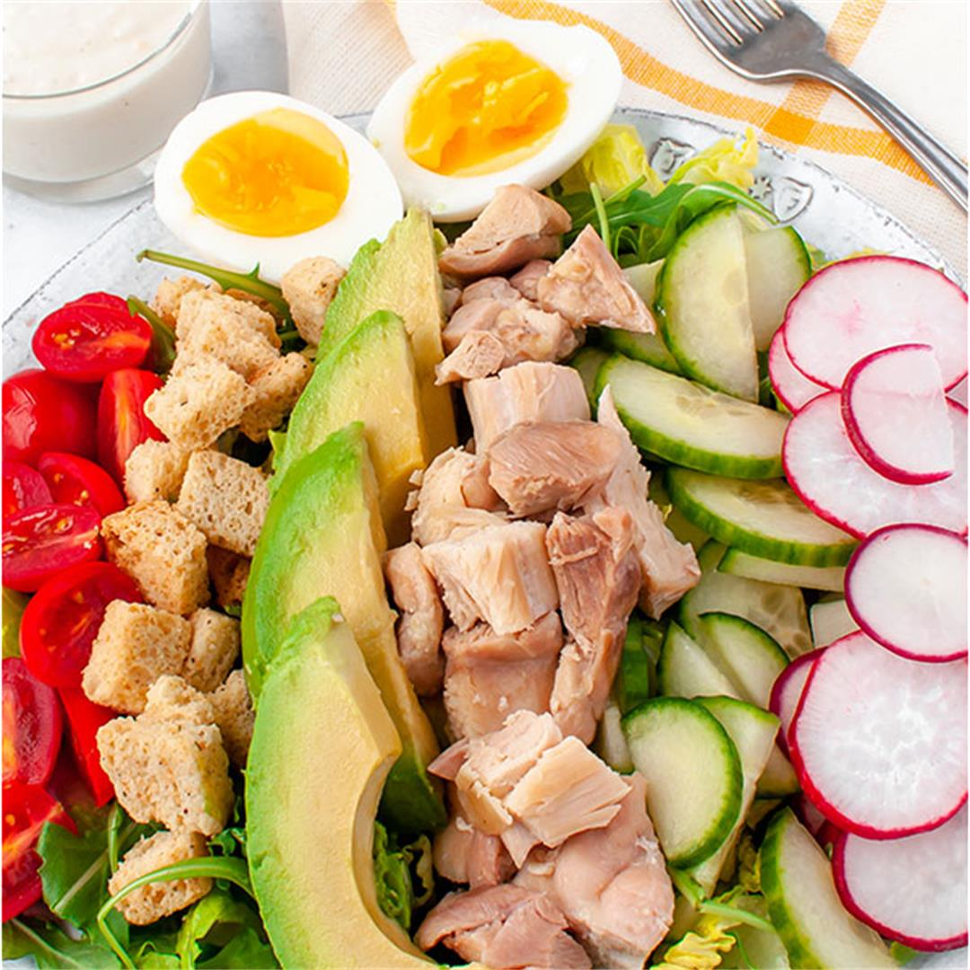 Chicken Caesar Cobb Salad Recipe