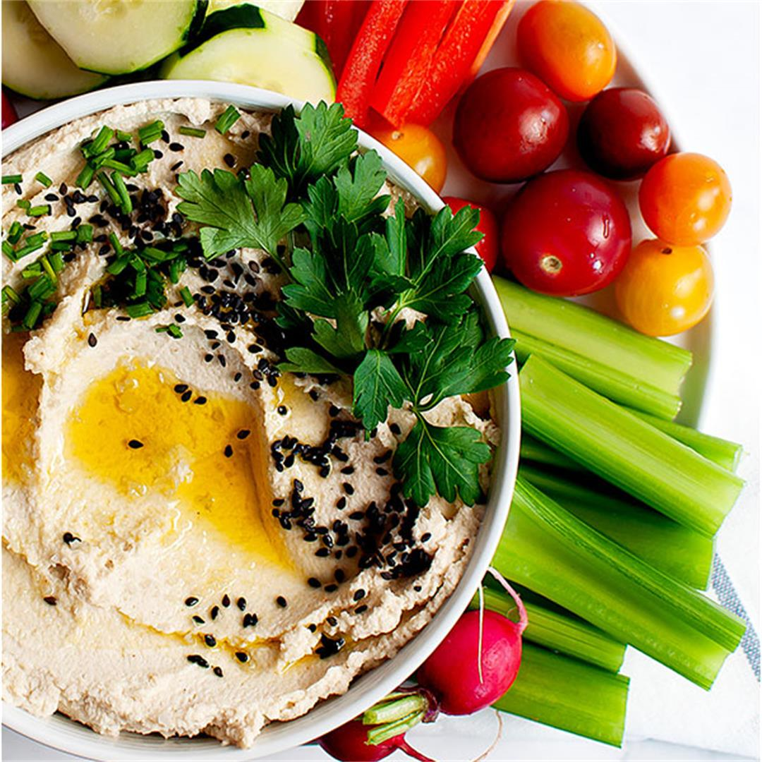 Roasted Cauliflower Hummus (Whole30, Paleo)