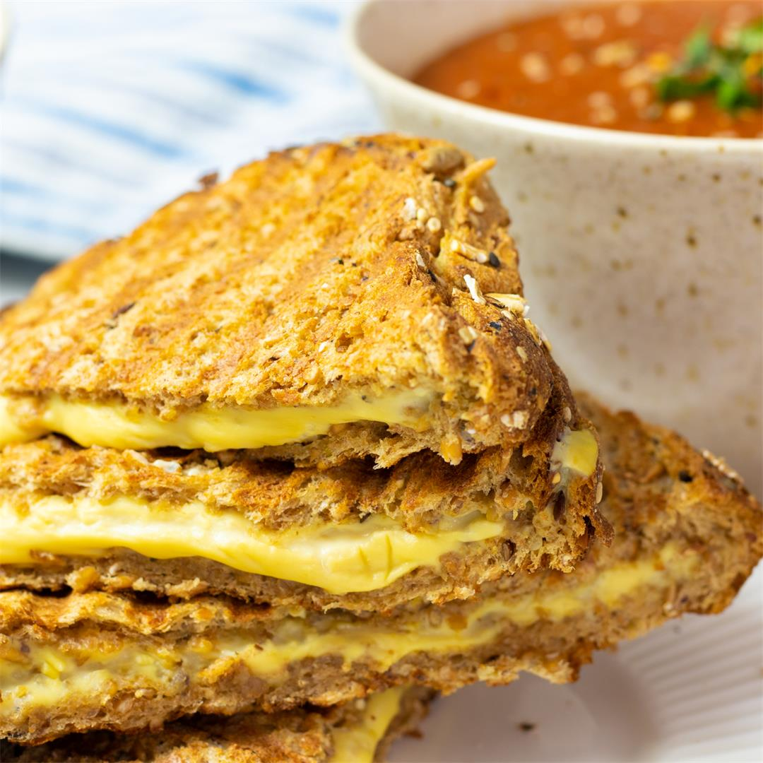 Vegan Grilled Cheese Sandwiches and Instant Pot Tomato Soup