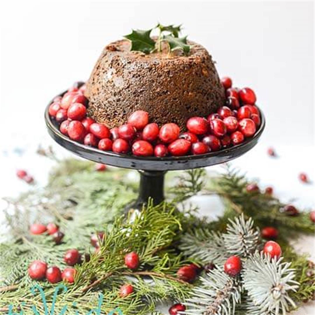Instant Pot Cranberry Christmas Pudding Recipe