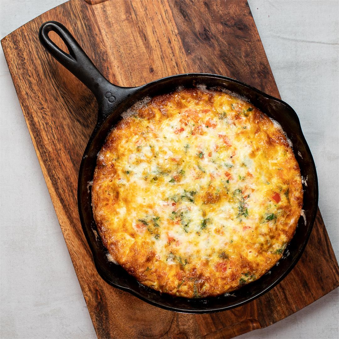 Cheesy Baked Provolone and Sausage Frittata