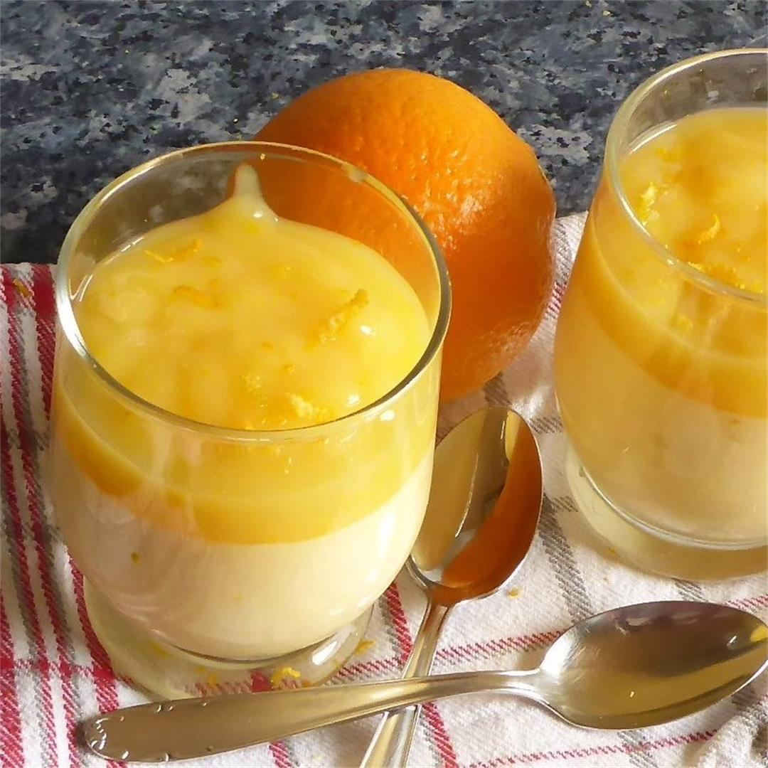Orange Cream Dessert with Orange Sauce