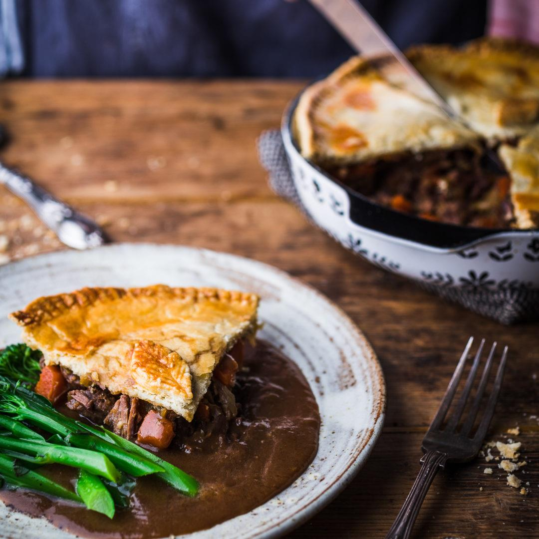 Steak and Ale Pie (step by step guide + recipe video)