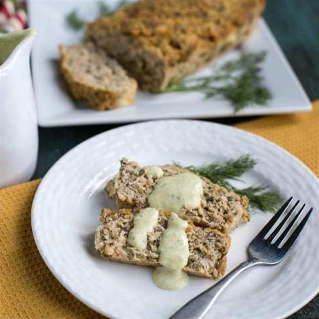 Salmon Loaf with Dill Dijon Mustard Sauce