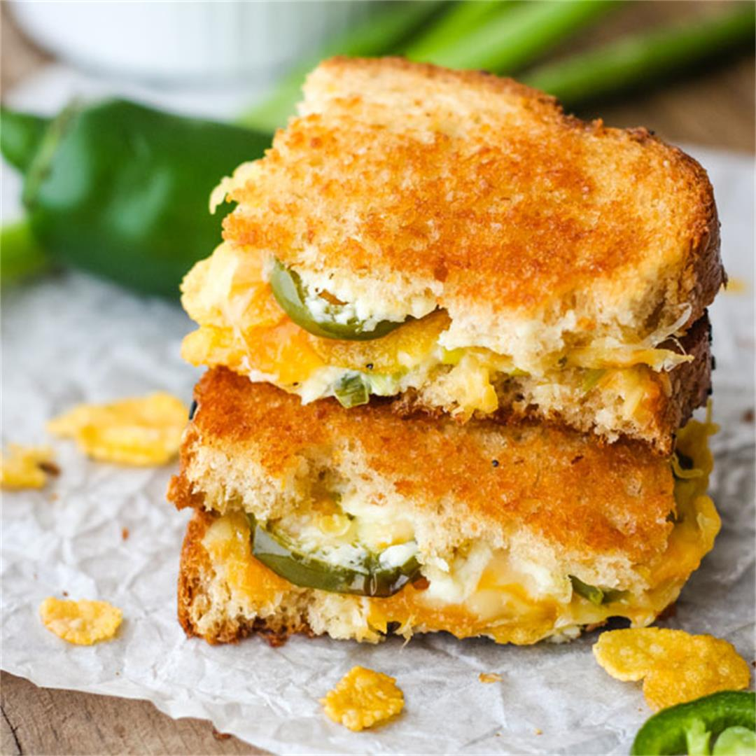 Jalapeño Popper Grilled Cheese (Toaster Oven Recipe)