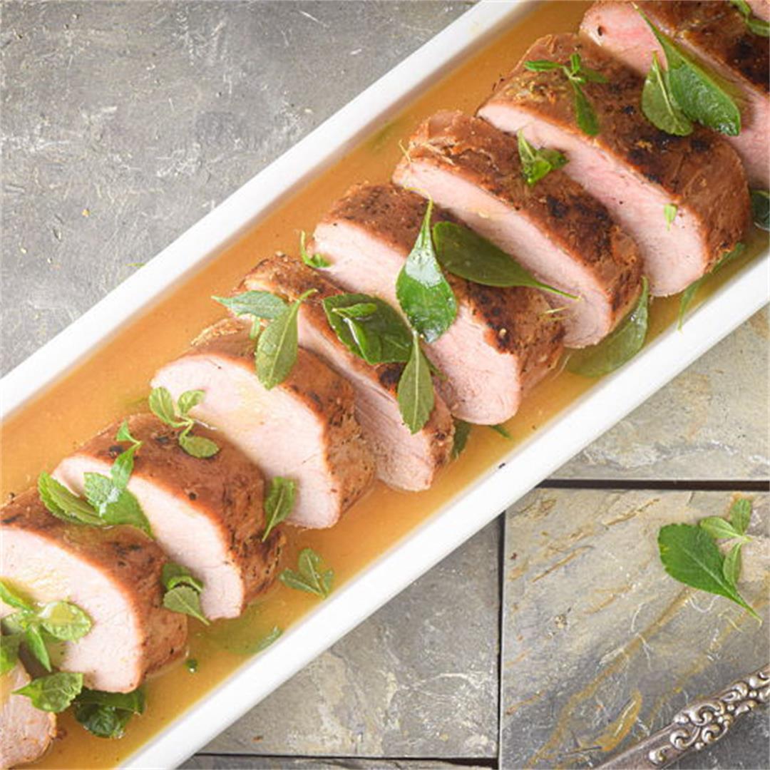 Electric Skillet Pork Tenderloin with White Wine Sauce
