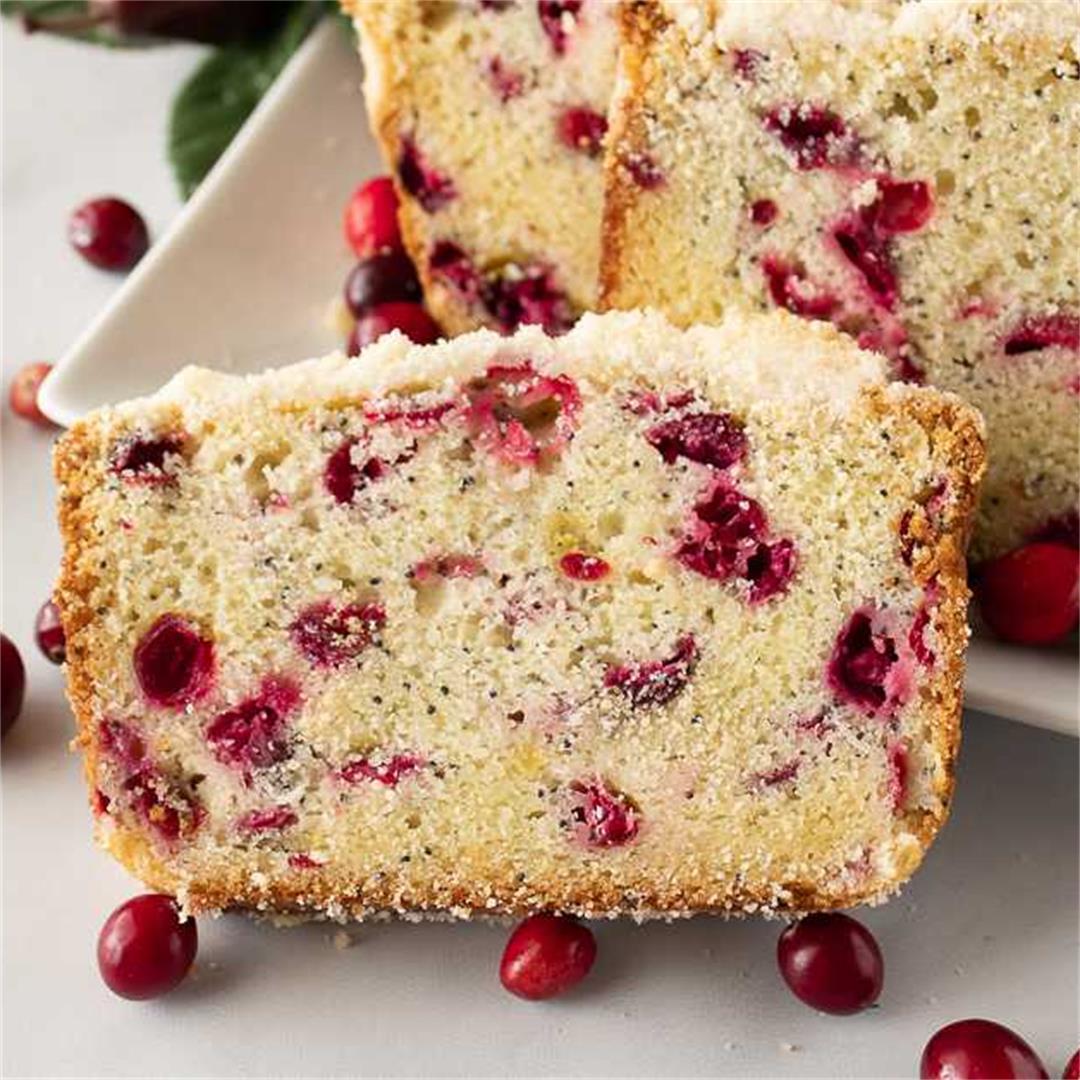 Cranberry Poppy Seed Bread