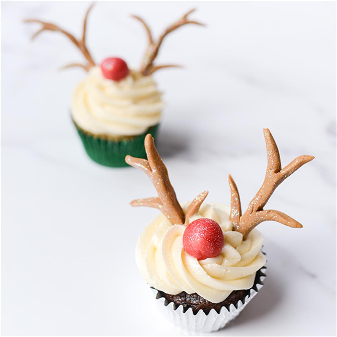 Reindeer Cupcakes for Christmas