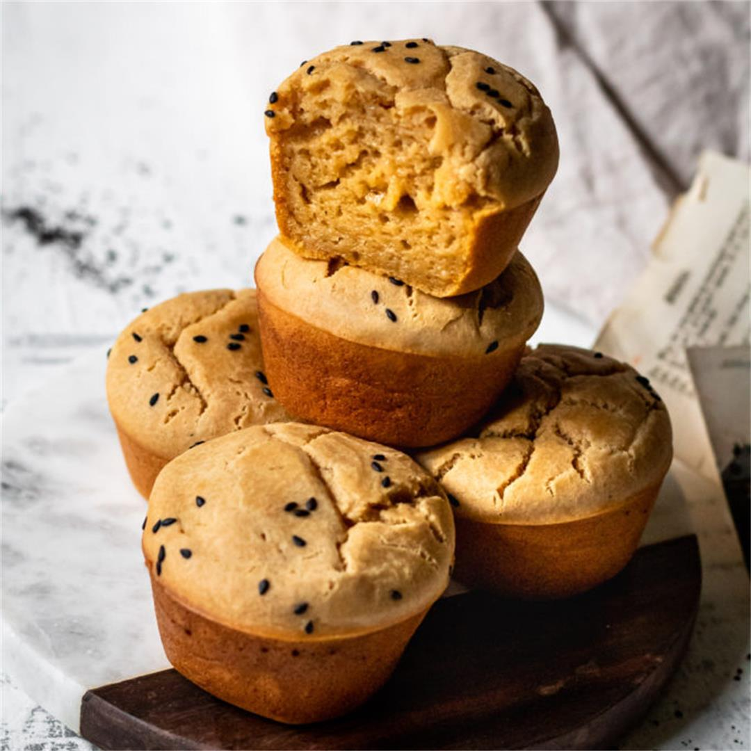 French Roast Coffee Mochi Muffins - Cooking Therapy