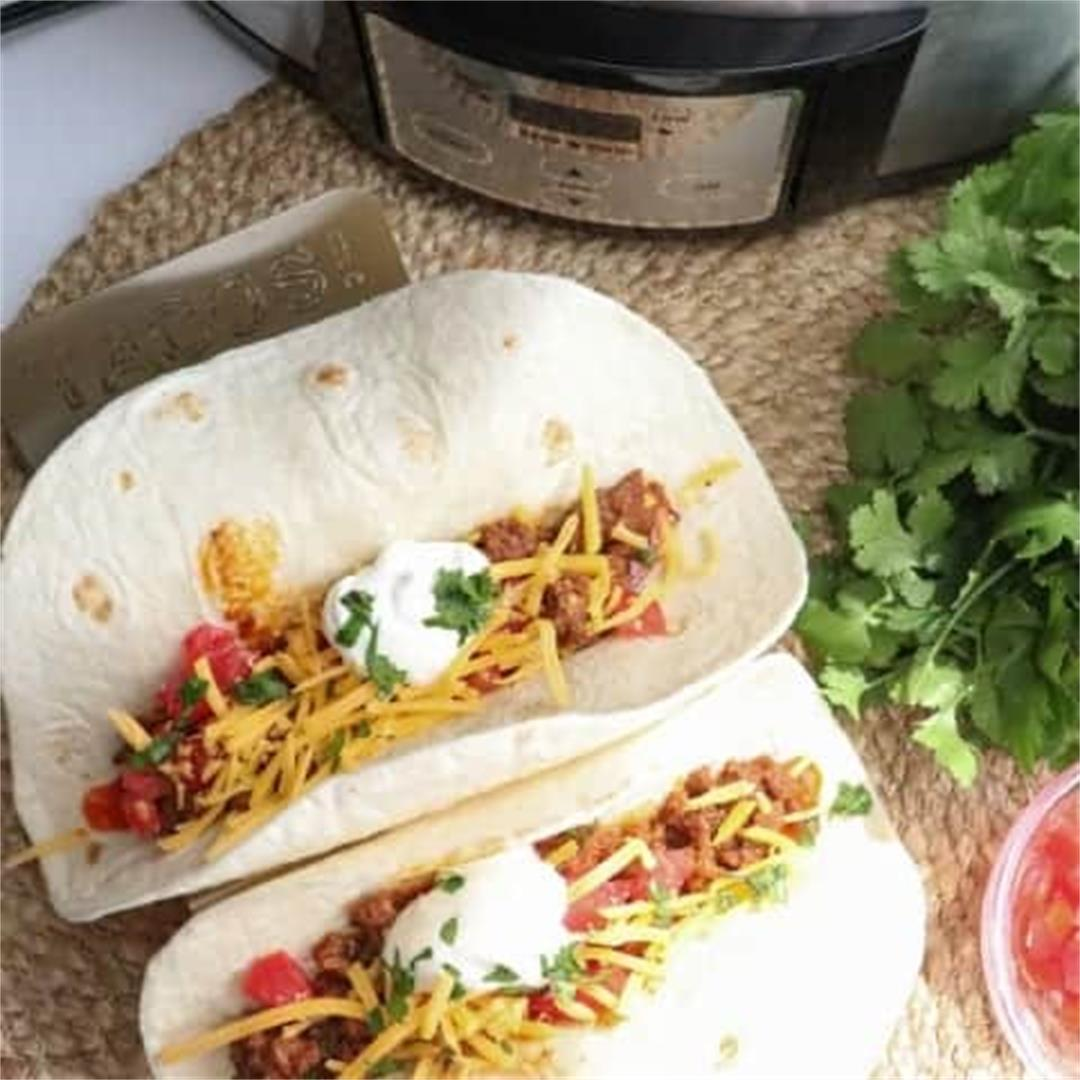Crock Pot Tacos with Slow Cooker Ground Beef