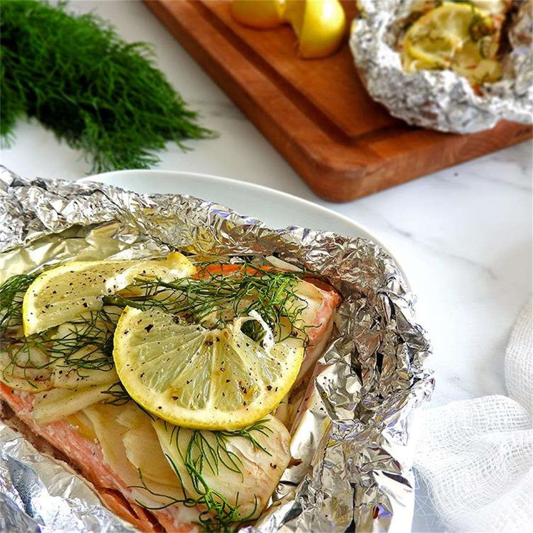 Baked Salmon & Fennel Foil Packets