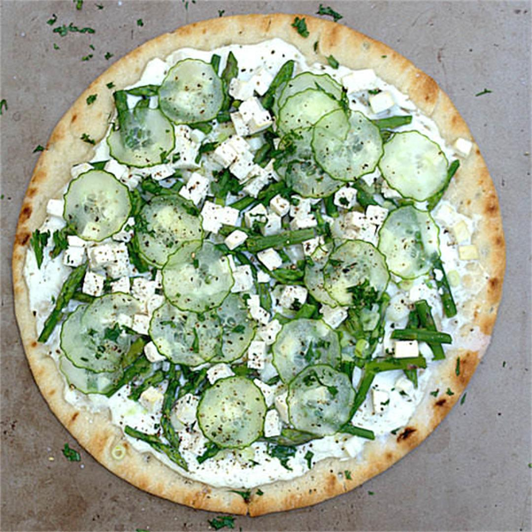 Green Garden Pizza with Ricotta and Tofu – A Gourmet Food Blog