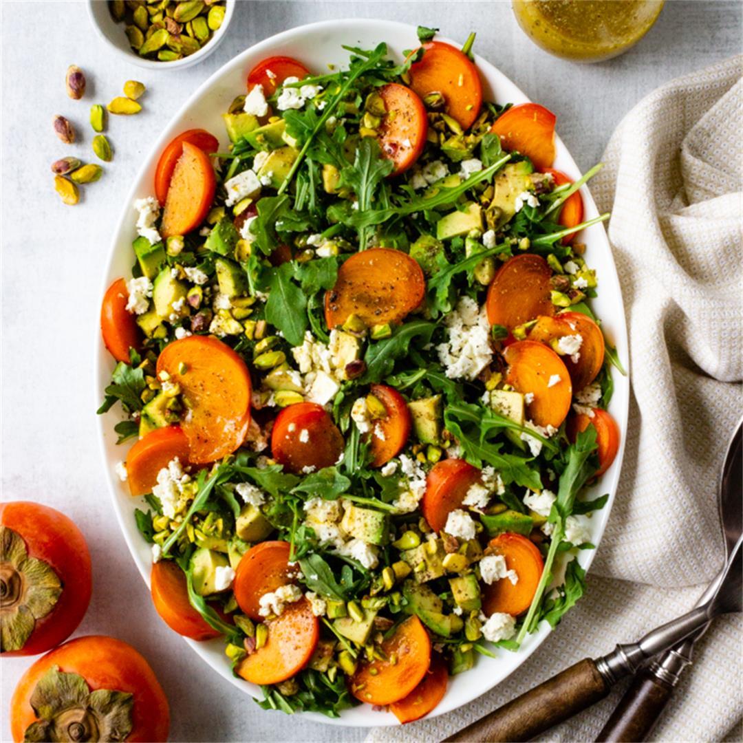 Simply Amazing Persimmon Arugula Salad
