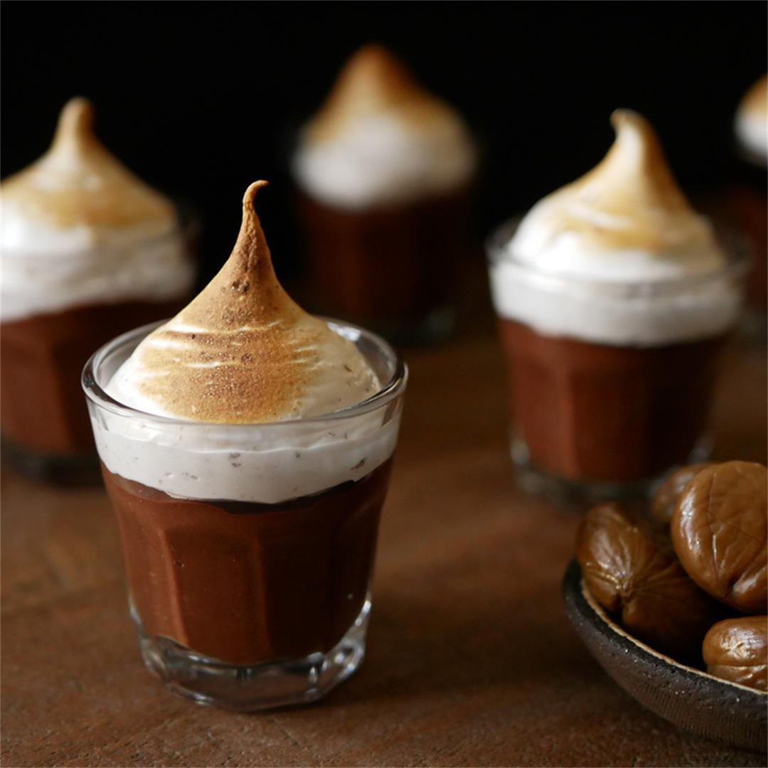 Chocolate & Chestnut Pots de Crème