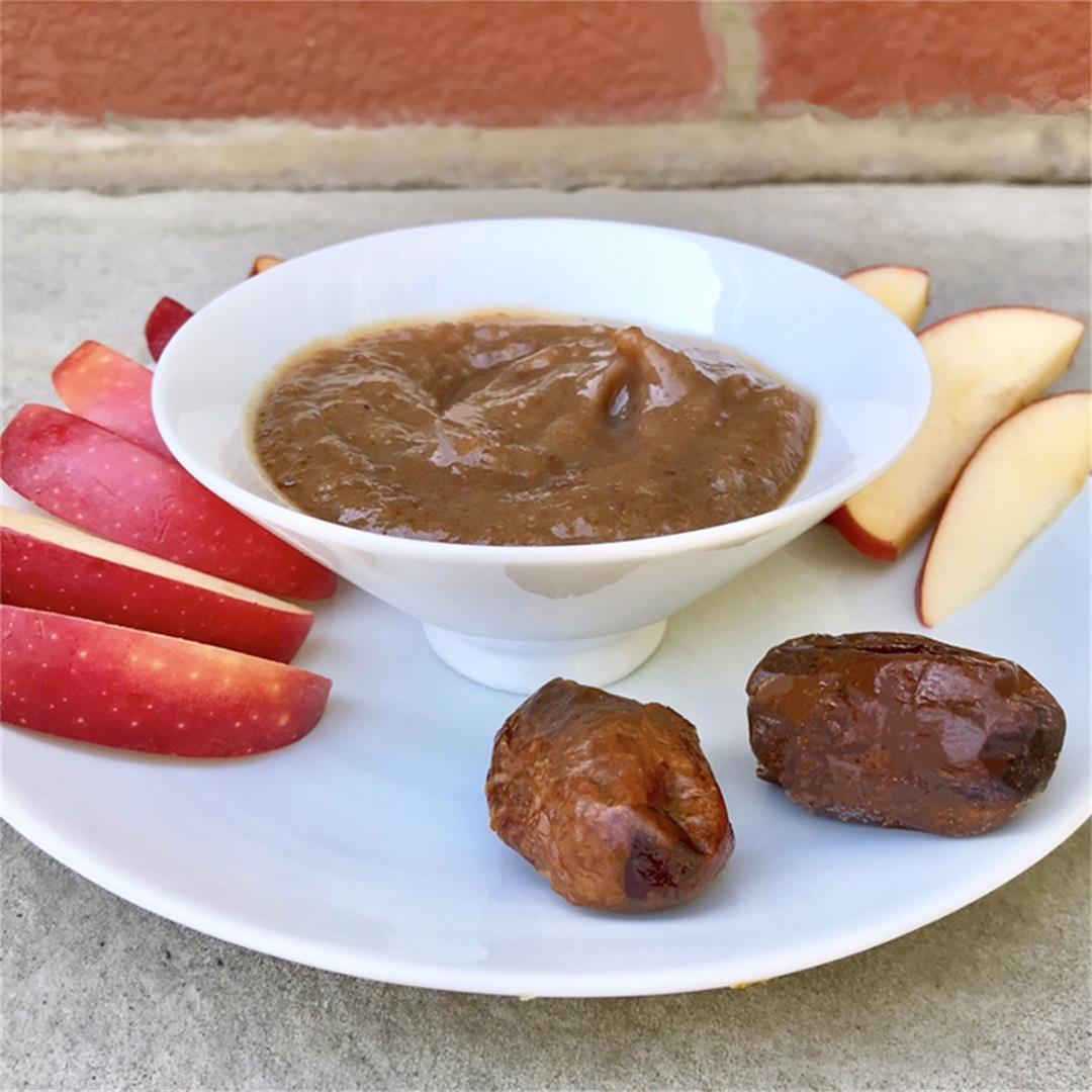 Healthy Vegan Date Caramel Dip