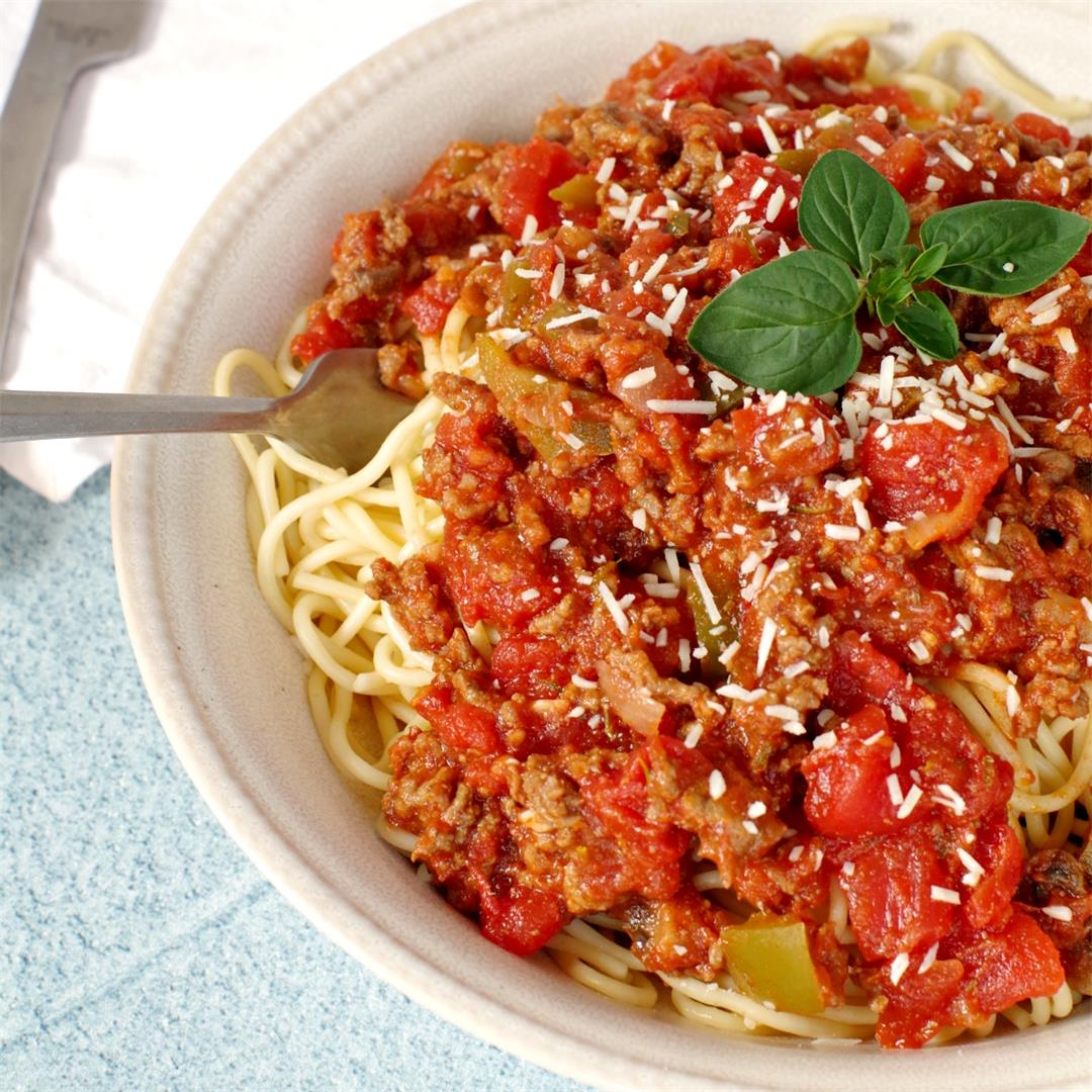 Secret Ingredient Spaghetti and Meat Sauce