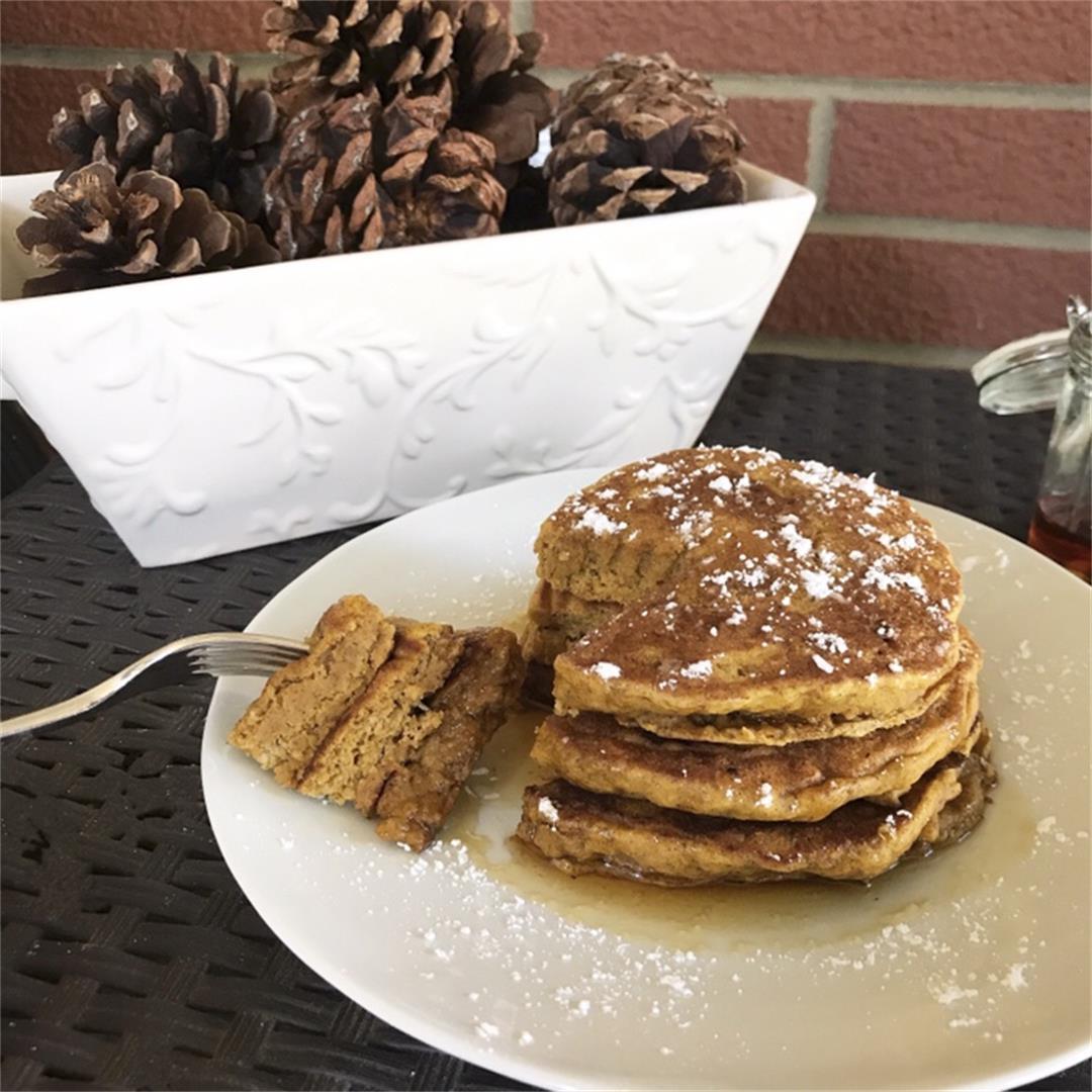 Vegan Pumpkin Spice Pancakes (Refined Sugar Free)