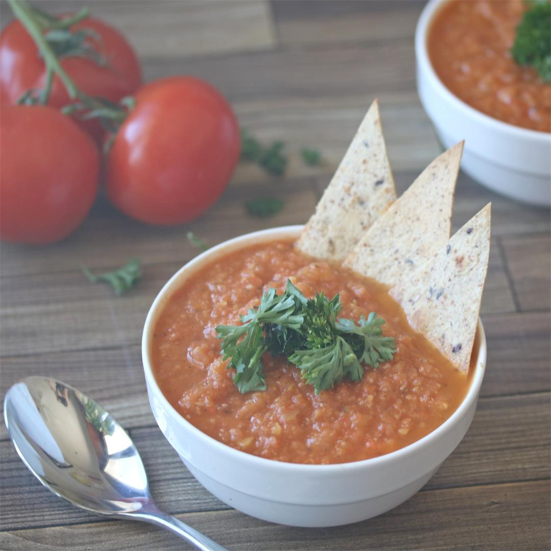 Vegan Tomato Soup- Homemade & Healthy