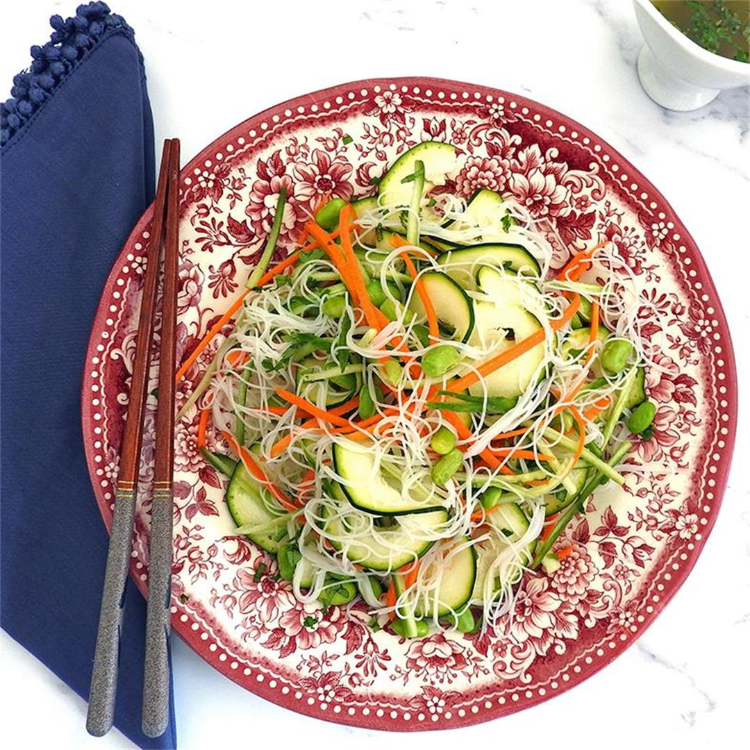 Asian Style Noodle & Courgette Salad