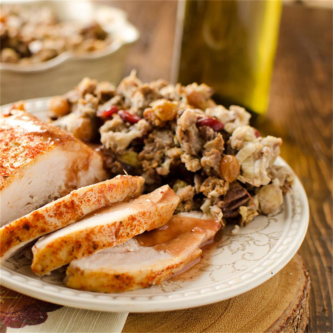Crock Pot Turkey Breast with Cranberry Sauce is a delicious slo