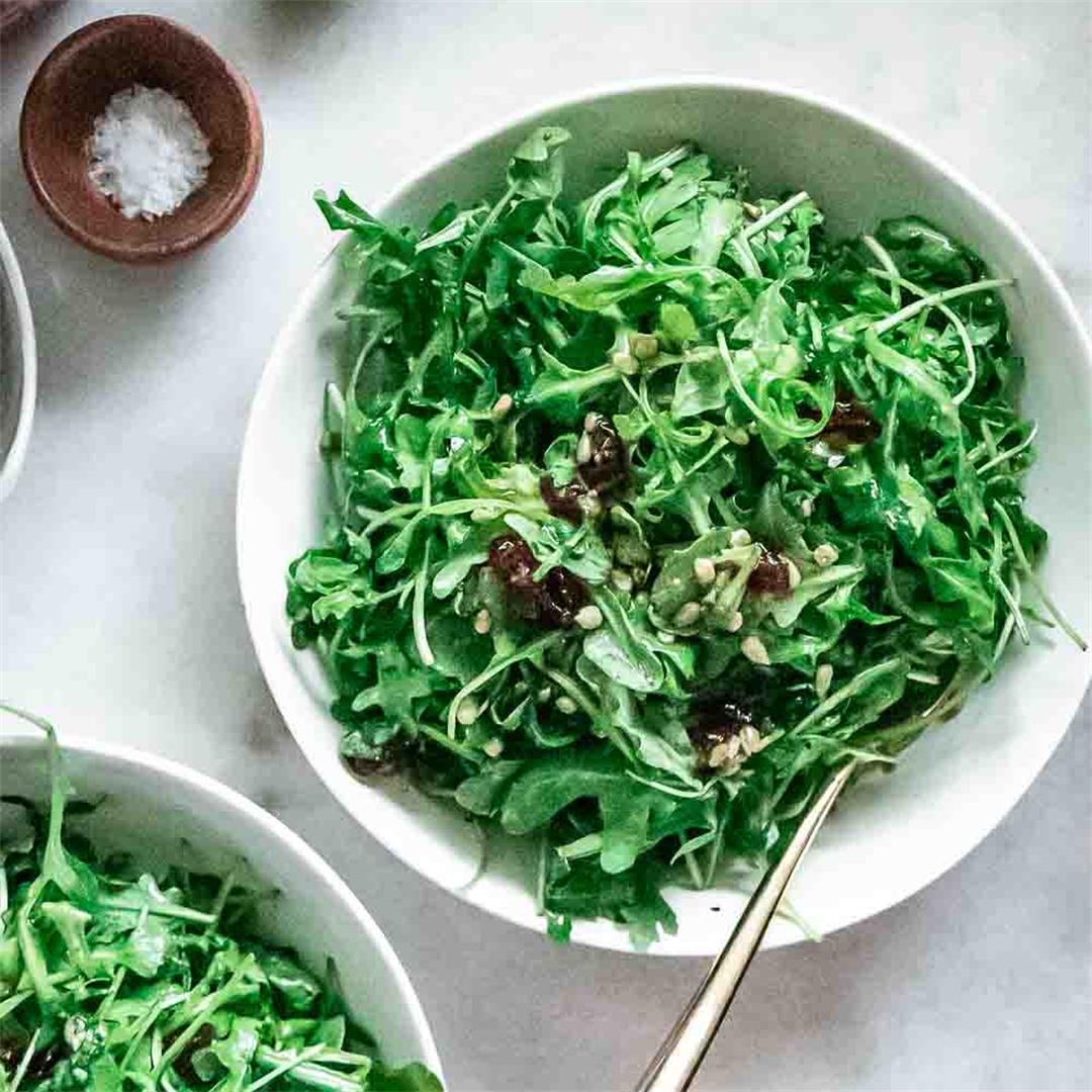 Simple Cranberry Arugula Side Salad