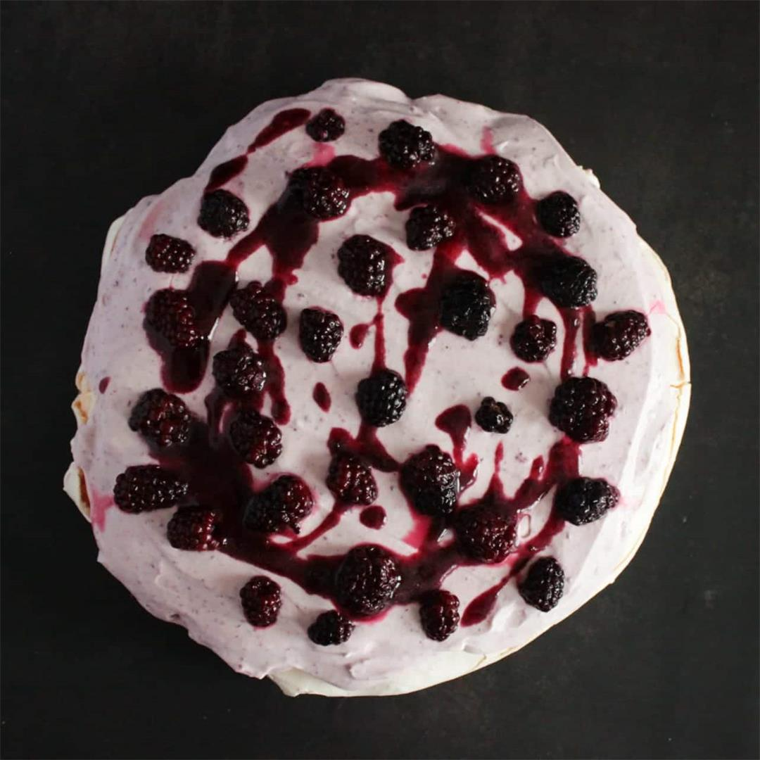 Blackberry Meringue Layer Cake