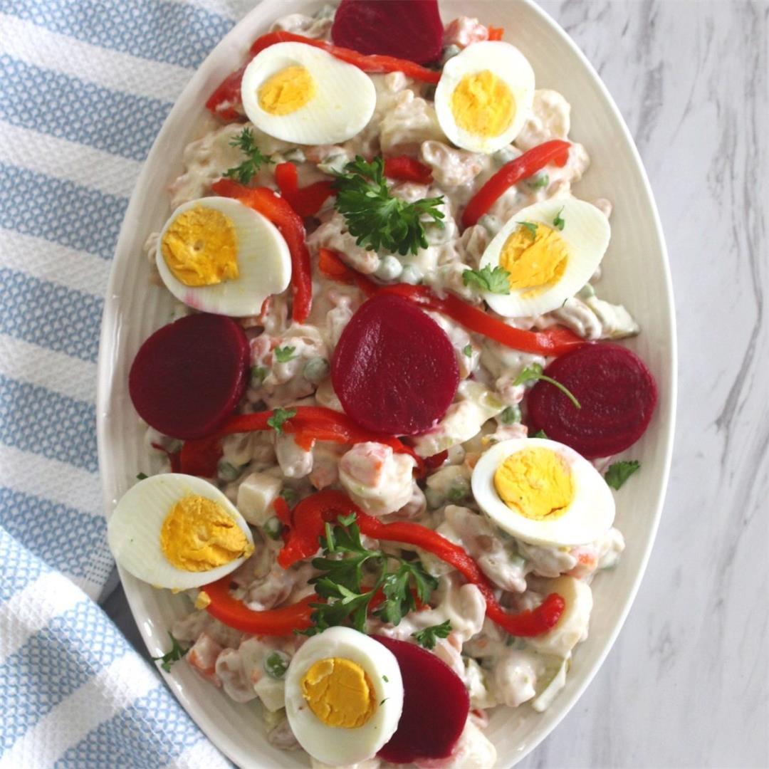 Albanian New Year's Eve Salad (Sallate Ruse)
