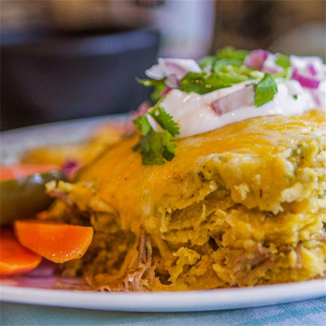 Chili Verde Green Enchiladas