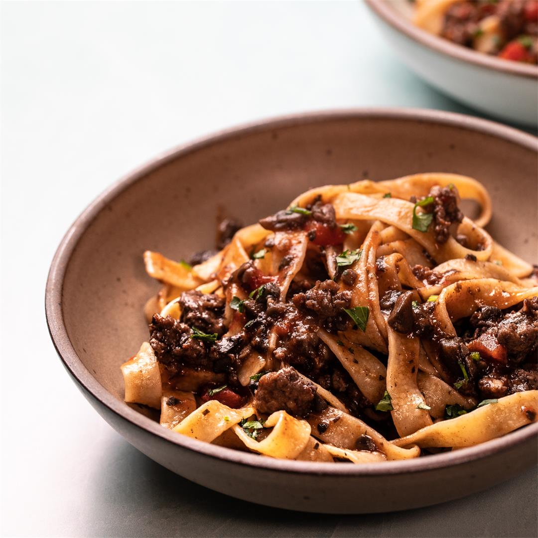 Rich and Hearty Sausage and Mushroom Ragu