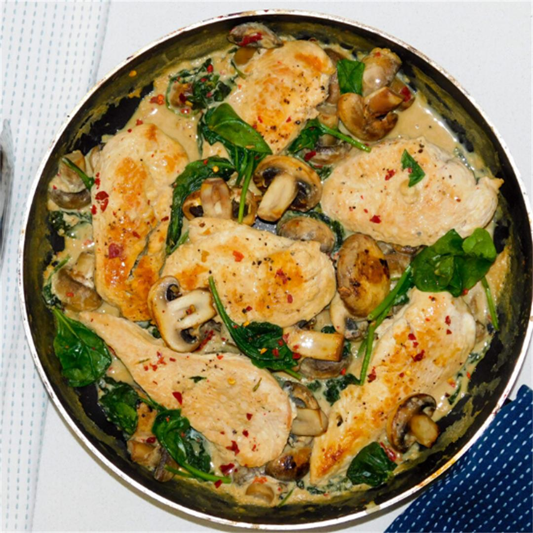 Chicken and mushroon in a Ricotta Sauce
