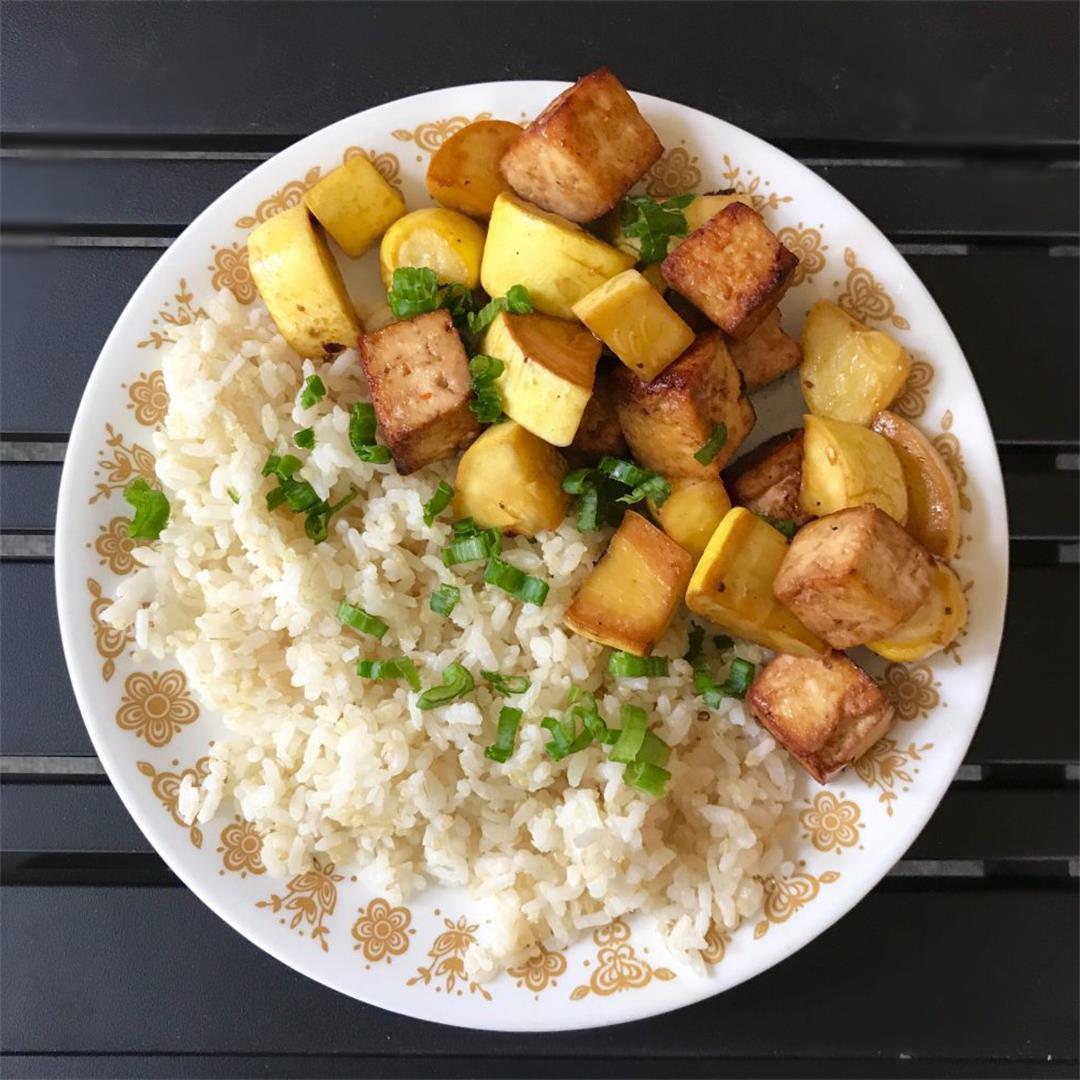 Tofu and Summer Squash Stir Fry