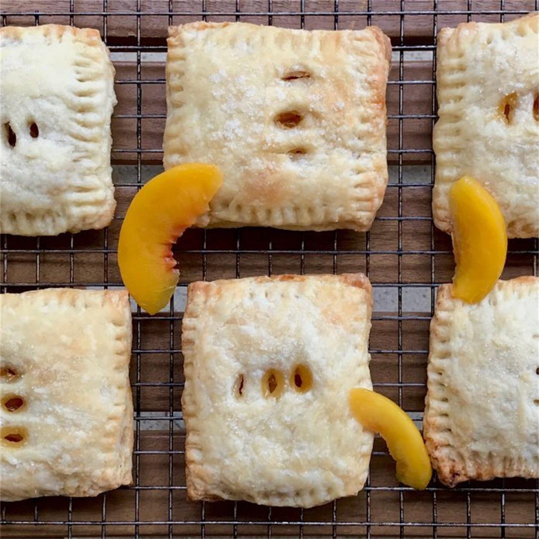 Baked Peach Pop Tarts (Vegan)