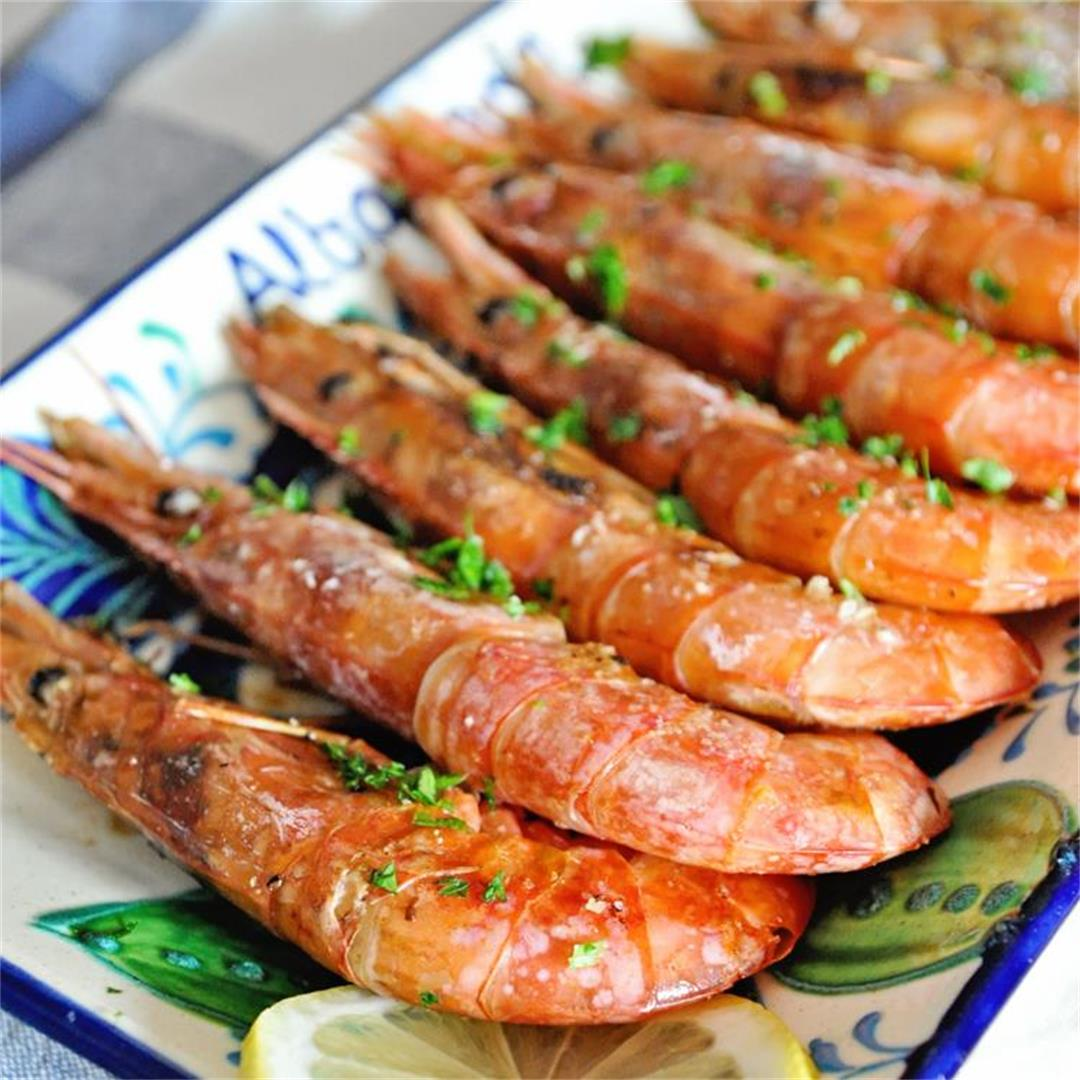 Spanish Peel and Eat Shrimp a la Plancha