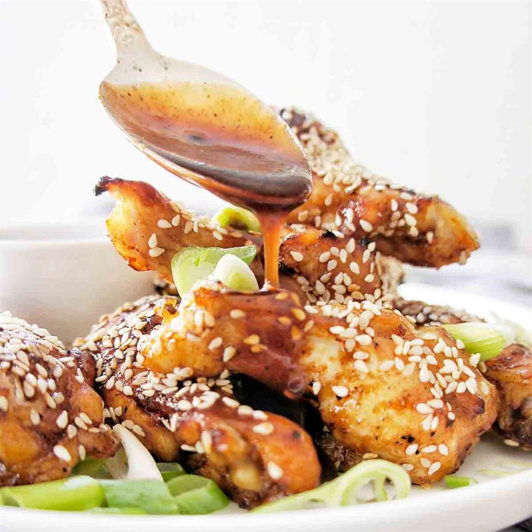 Honey BBQ Chicken Wings (Slow Cooker)