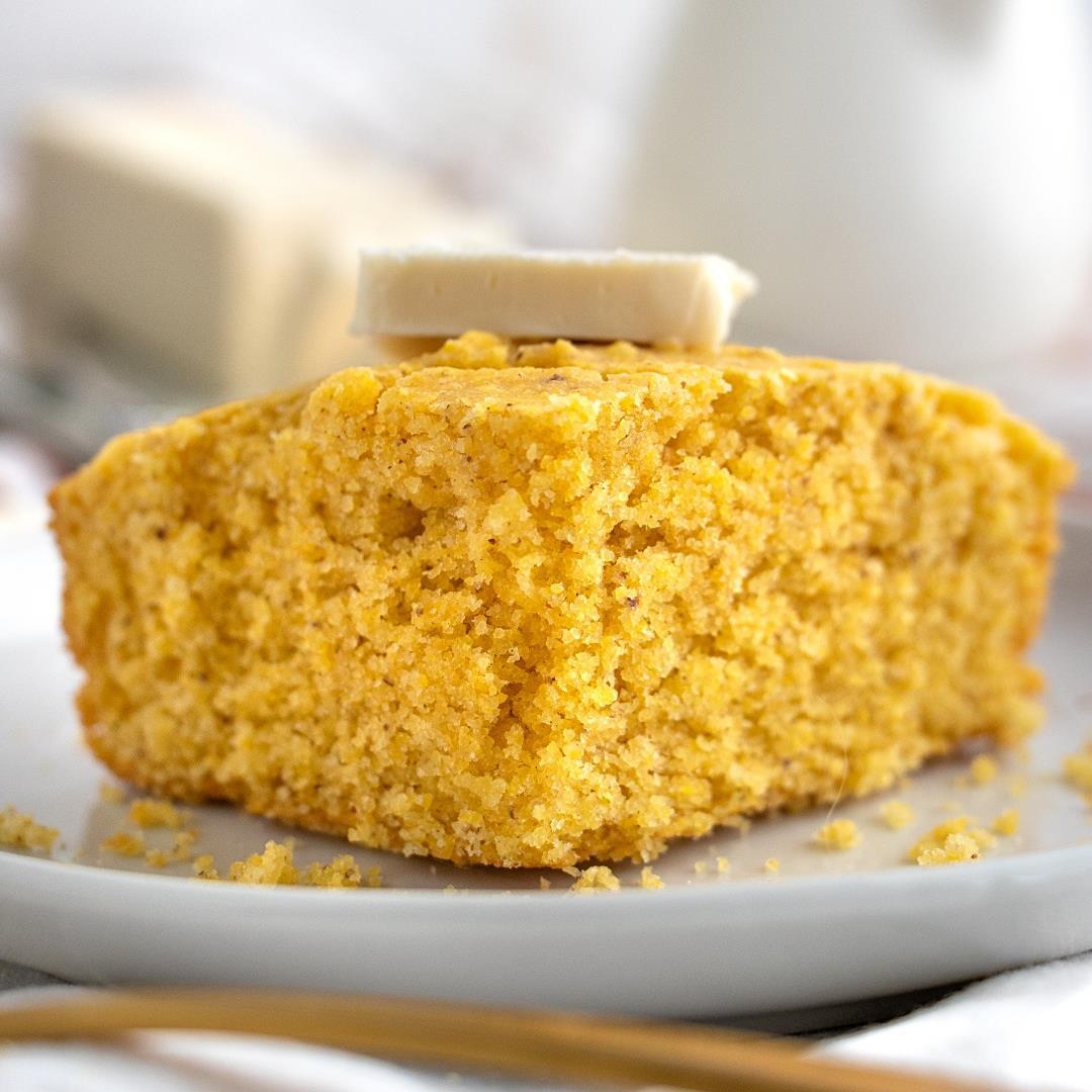 The Best Ever Vegan Cornbread! (Sweet & Moist)