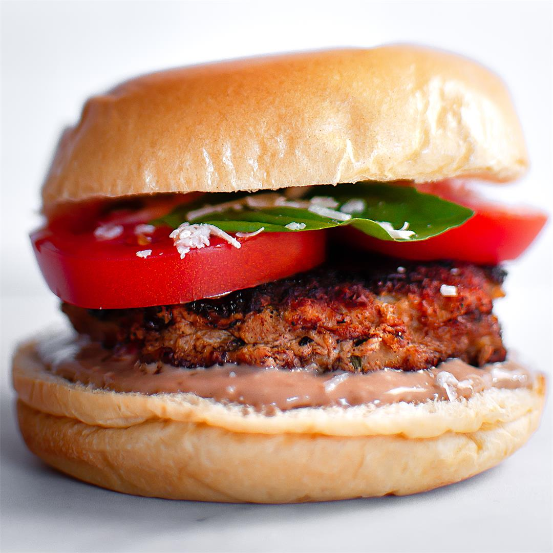 Bruschetta Burgers with Ground Turkey