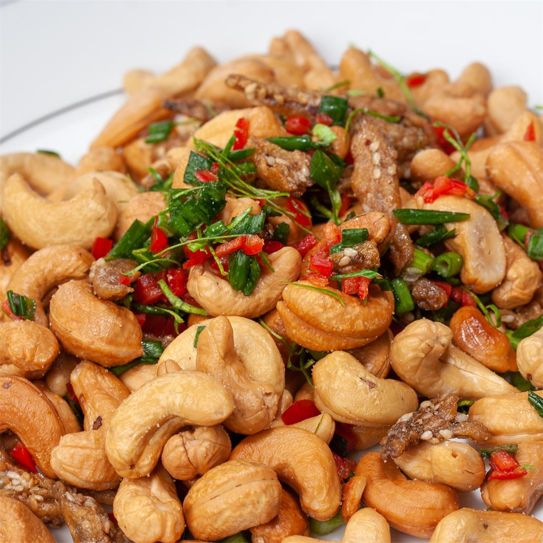 Awesome Thai Spicy Cashews Recipe - Great Party Nibbles
