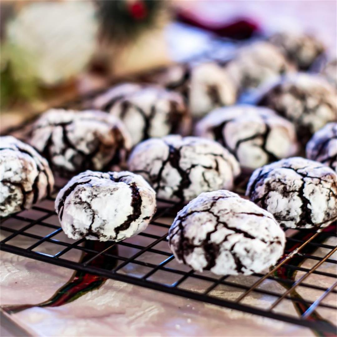 Spiced Iced Chocolate Holiday Cookies