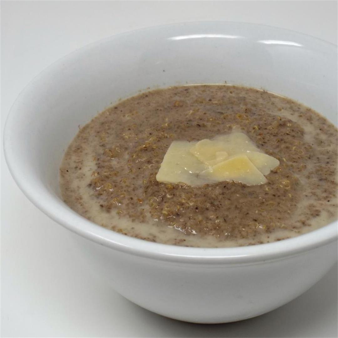 Creamy Mushroom and Quinoa Soup