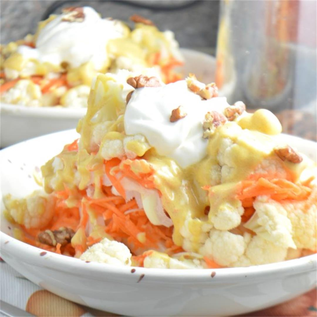 Cauliflower Salad with Orange Dressing — Tasty Food