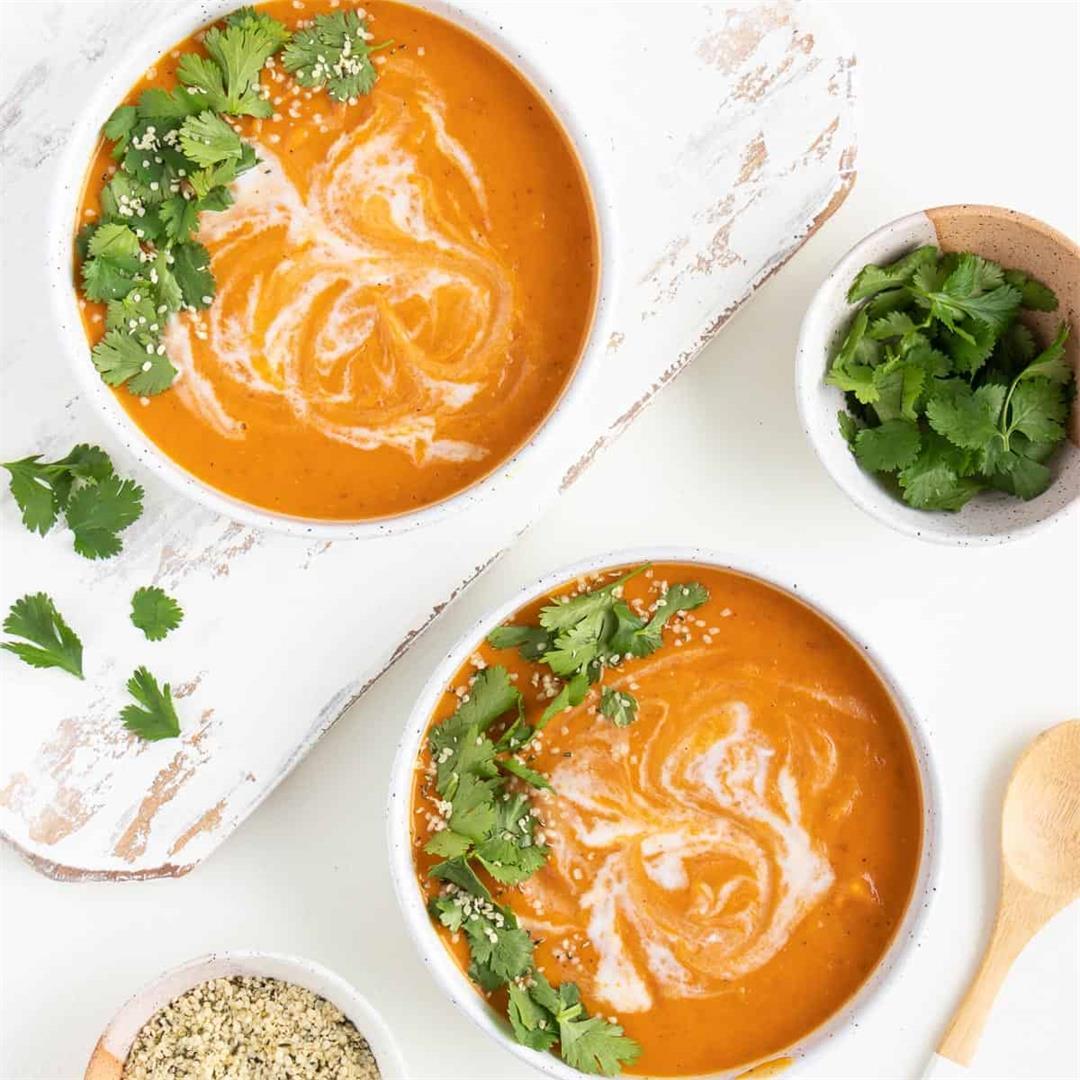 Creamy Vegan Sweet Potato Soup